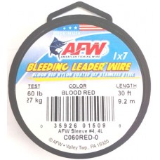 AFW BLEEDING LEADER WIRE 60 lb
