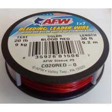 AFW BLEEDING LEADER WIRE 20 lb