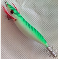 TOP ONE 2.5 Squid Jig Green Glow